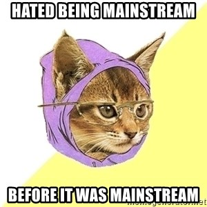 Hipster Kitty - Hated being mainstream before it was mainstream