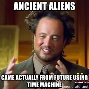 Giorgio A Tsoukalos Hair - Ancient aliens came actualLy from future using time machine