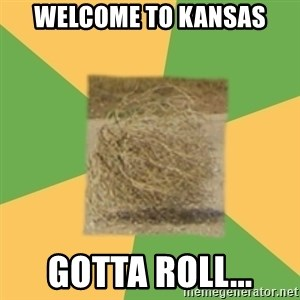 Busy Tumbleweed - Welcome to kansas gotta roll...