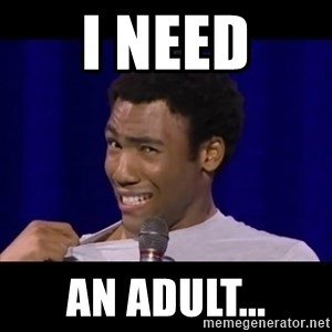 Awkward Donald Glover - i need an adult...
