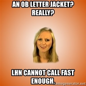 Taylorface™ Dumb as TexasX - An OB letter jacket?  Really? LHN cannot call fast enough.
