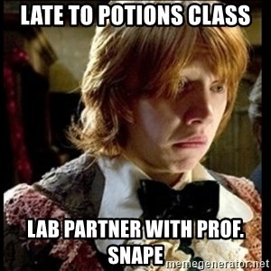 Magic World Problems - Late to potions class lab partner with prof. snape