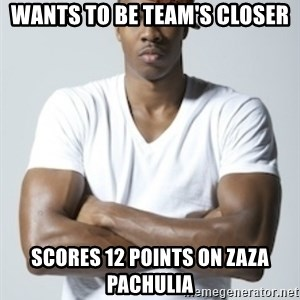 Scumbag Dwight - wants to be team's closer scores 12 points on zaza pachulia