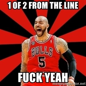 Yelling Carlos Boozer - 1 of 2 from the line Fuck Yeah