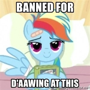 Cute Book Holding Rainbow Dash - banned for  d'aawing at this