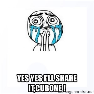 YES YOU CAN - yes yes i'll share it,cubone !