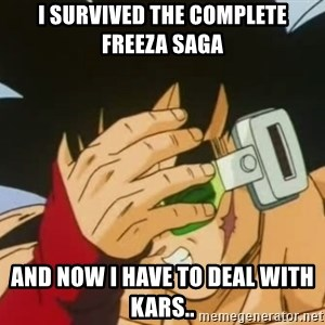 Facepalm Goku - I survived the complete freeza saga and now i have to deal with kars..
