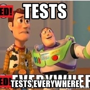 Toy Story Everywhere - Tests Tests everywhere