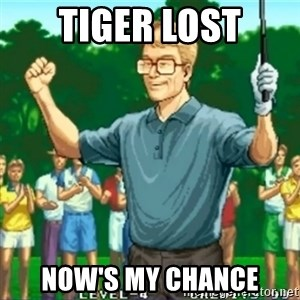 Happy Golfer - Tiger lost Now's my chance