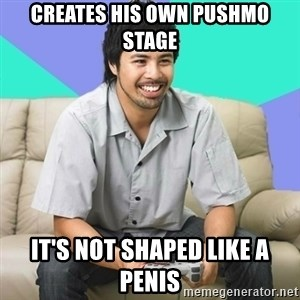 Nice Gamer Gary - creates his own pushmo stage it's not shaped like a penis