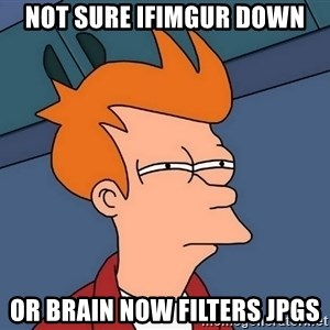 Futurama Fry - not sure ifimgur down or brain now filters jpgs