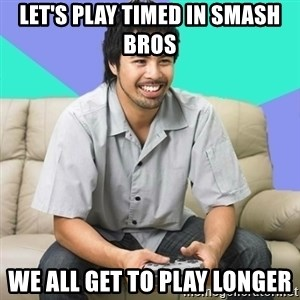 Nice Gamer Gary - let's play timed in smash bros we all get to play longer