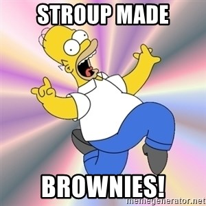 Typical RaSpIzDyaY - Stroup Made Brownies!