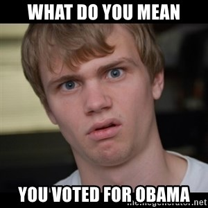 Conspiracy Manke - what do you mean you voted for obama