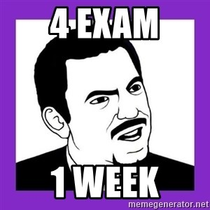 Seriously Teacher - 4 exam 1 week
