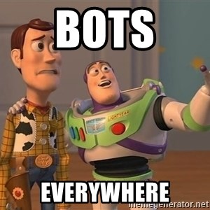 ORIGINAL TOY STORY - BOTS  EVERYWHERE