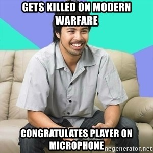 Nice Gamer Gary - Gets killed on modern warfare congratulates player on microphone