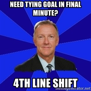 Ron Wilson/Leafs Memes - need tying goal in final minute? 4th line shift