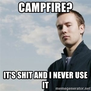 SMUG DHH - campfire? it's shit and i never use it