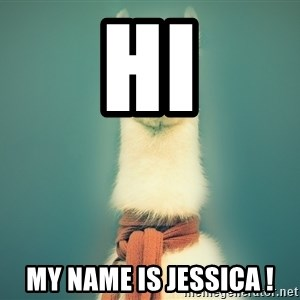 Pancakes llama - hi my name is jessica !