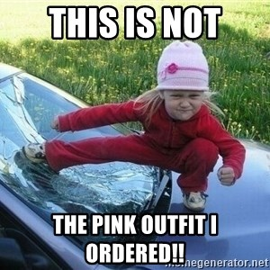 Angry Karate Girl - This is not The Pink outfit I Ordered!!