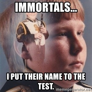 PTSD Clarinet Boy - Immortals...  I put their name to the test.