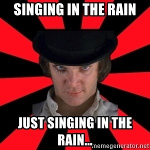 Cynical animeshniki - Singing in the rain just singing in the rain...