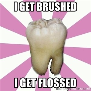 forced tooth - I GET BRUSHED I GET FLOSSED