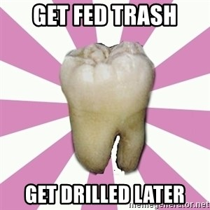 forced tooth - GET FED TRASH GET DRILLED LATER