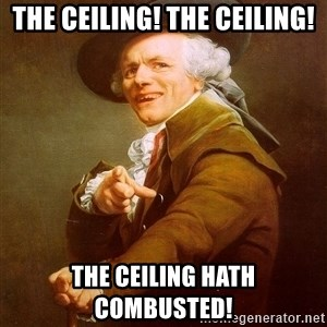 Joseph Ducreux - the ceiling! the ceiling! the ceiling hath combusted!