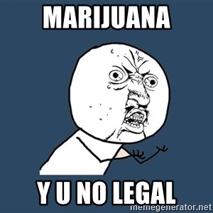 Y U No - marijuana y u no legal