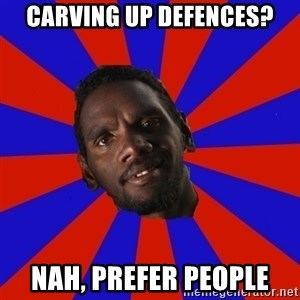 Jurrahcaine - Carving up Defences? NAH, PREFER PEOPLE