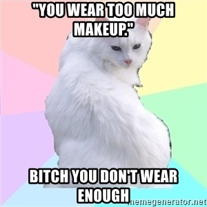 """Beauty Addict Kitty - """"You wear too much makeup."""" Bitch you don't wear enough"""