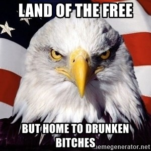 American Pride Eagle - land of the free but home to drunken bitches