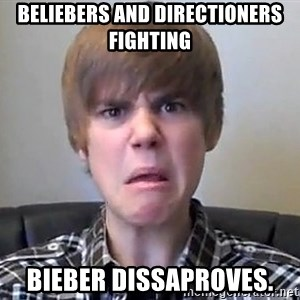 Justin Bieber 213 - beliebers and directioners fighting bieber dissaproves.