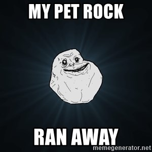 Forever Alone - My pet rock Ran away