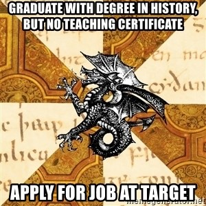 History Major Heraldic Beast - GRADUATE WITH DEGREE IN HISTORY, BUT NO teaching certificate Apply for job at target