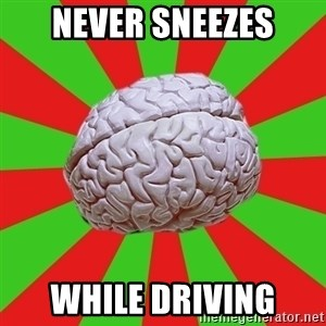 Good Guy Brain - never sneezes while driving