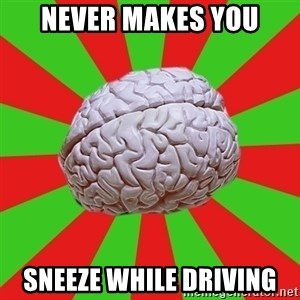 Good Guy Brain - never makes you sneeze while driving
