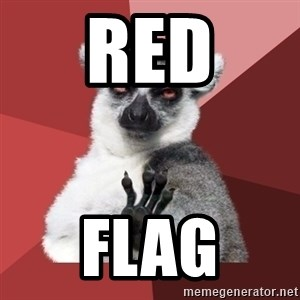 Chill Out Lemur - RED flag