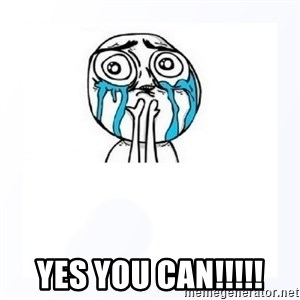YES YOU CAN - yes you can!!!!!