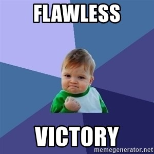 Success Kid - Flawless victory
