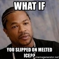 Xzibit WTF - What if you slipped on melted ice??