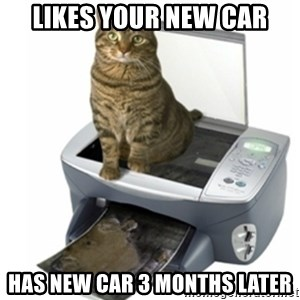 COPYCAT - likes your new car has new car 3 months later