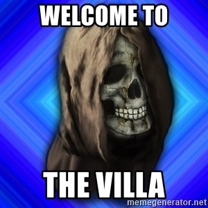 Scytheman - welcome to the villa