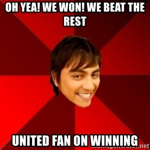 Un dia con paoly - Oh yea! We won! We beat the rest United fan on winning