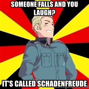 Success Germany - SOMEONE FALLS AND YOU LAUGH? IT'S CALLED SCHADENFREUDE