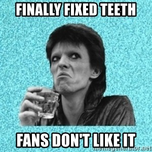 Disturbed Bowie - FINALLY FIXED TEETH FANS DON'T LIKE IT