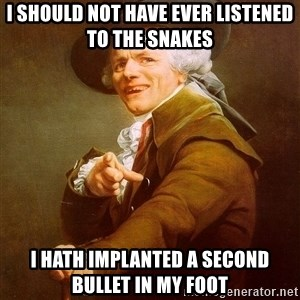Joseph Ducreux - i should not have ever listened to the snakes i hath implanted a second bullet in my foot