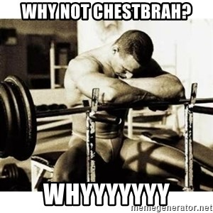 Sad Bodybuilder - Why not chestbrah? whyyyyyyy